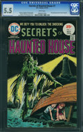Bronze Age (1970-1979):Horror, Secrets of Haunted House #1 (DC, 1975) CGC FN- 5.5 White pages.