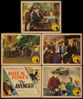 "Movie Posters:Western, The Avenger (Columbia, 1931). Title Lobby Card and Lobby Cards (4) (11"" X 14""). Western.. ... (Total: 5 Items)"