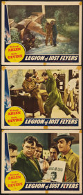 "Movie Posters:Drama, Legion of Lost Flyers (Universal, 1939). Lobby Cards (3) (11"" X 14""). Drama.. ... (Total: 3 Items)"