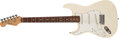 Musical Instruments:Electric Guitars, 1991 Fender Stratocaster Left-Handed Olympic White Solid BodyElectric Guitar, #N1030084. ...