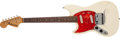 Musical Instruments:Electric Guitars, 1969 Fender Mustang Left-Handed Olympic White Electric Guitar,#248701. ...