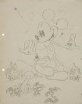 Animation Art:Production Drawing, Gulliver Mickey Illustration Preliminary Drawing OriginalArt (Disney, 1934)....