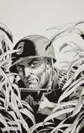 Original Comic Art:Miscellaneous, Russ Heath Sgt. Rock Specialty Grey Tone IllustrationOriginal Art (2010)....
