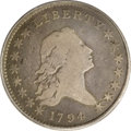 """Early Half Dollars: , 1794 50C VG8 PCGS. O-103, High R.5. Even though this is not one ofthe """"impossible"""" 1794 half dollar varieties, it is clear..."""