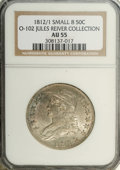 Bust Half Dollars: , 1812/1 50C Small 8 AU55 NGC. Ex: Jules Reiver Collection. O-102,R.2. This example is well struck for the issue, despite so...