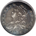 Bust Half Dollars: , 1812/1 50C Large 8 AU50 PCGS. O-101, R.5. A very scarce andalways-desirable variety among early Bust halves. This piece ap...
