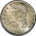 Bust Half Dollars: , 1827/6 50C MS64 PCGS. O-103, R.4. There are three different dievarieties known for the 1827 overdate half dollars, all fro...
