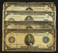 Four $5 1914 Federal Reserve Notes