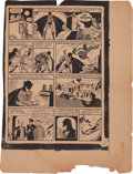 Memorabilia:Comic-Related, Detective Comics #27 Page 3 Proof (1939)....