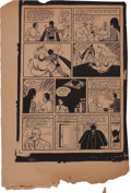 Memorabilia:Comic-Related, Detective Comics #27 Page 6 Proof (1939)....
