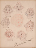 Animation Art:Production Drawing, Marc Davis Snow White and the Seven Dwarfs AnimationProduction Drawing Collage Animation Art (Disney, 1937)....