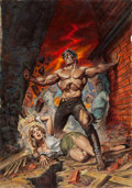 Original Comic Art:Covers, Earl Norem Marvel Preview #9 Cover Original Art (Marvel,1976)....