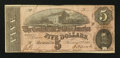 Confederate Notes:1864 Issues, Low Serial Number T69 $5 1864.. ...