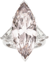 Featured item image of Fancy Light Brownish-Pink Diamond, Diamond, Platinum Ring  ...