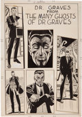 Original Comic Art:Splash Pages, Steve Ditko Dr. Graves from The Many Ghosts of Dr. GravesSplash Page Original Art (c. 1970s)....