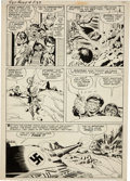 Original Comic Art:Panel Pages, Jack Kirby and George Roussos Sgt. Fury #4 Tiger Tank page20 Original Art (Marvel, 1963)....
