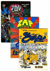 Zap Comix #1, 4, and 5 Group (Apex Novelties, 1969-70).... (Total: 3 Comic Books)