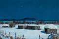 Paintings, CHARLES H. REYNOLDS (American, 1902-1963). The Night Before Christmas, 1963. Oil on masonite. 21 x 30 inches (53.3 x 76.... (Total: 2 Items)