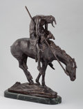 Sculpture, After JAMES EARLE FRASER (American, 1876-1953). End of the Trail. Bronze with patina. 35 x 28 x 8 inches (88.9 x 71.1 x ...