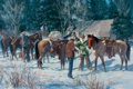Paintings, GARY CARTER (American, b. 1939). The Hillgard Hunt, 1975. Oil on canvas. 20 x 30 inches (50.8 x 76.2 cm). Signed and dat...