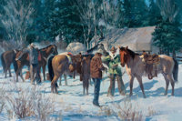 GARY CARTER (American, b. 1939) The Hillgard Hunt, 1975 Oil on canvas 20 x 30 inches (50.8 x 76.2