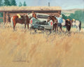 Western:20th Century, GARY CARTER (American, b. 1939). When Four-Wheel Fails, 1974. Oil on canvas. 16 x 20 inches (40.6 x 50.8 cm). Signed low...