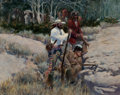 Western:Cowboy Artists, GARY CARTER (American, b. 1939). A Perilous Camp, 1976. Oil on masonite. 14 x 18 inches (35.6 x 45.7 cm). Signed and dat...