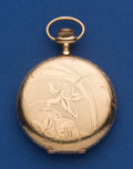 Timepieces:Pocket (post 1900), Elgin 14k Gold 12 Size Hunter's Case Pocket Watch. ...