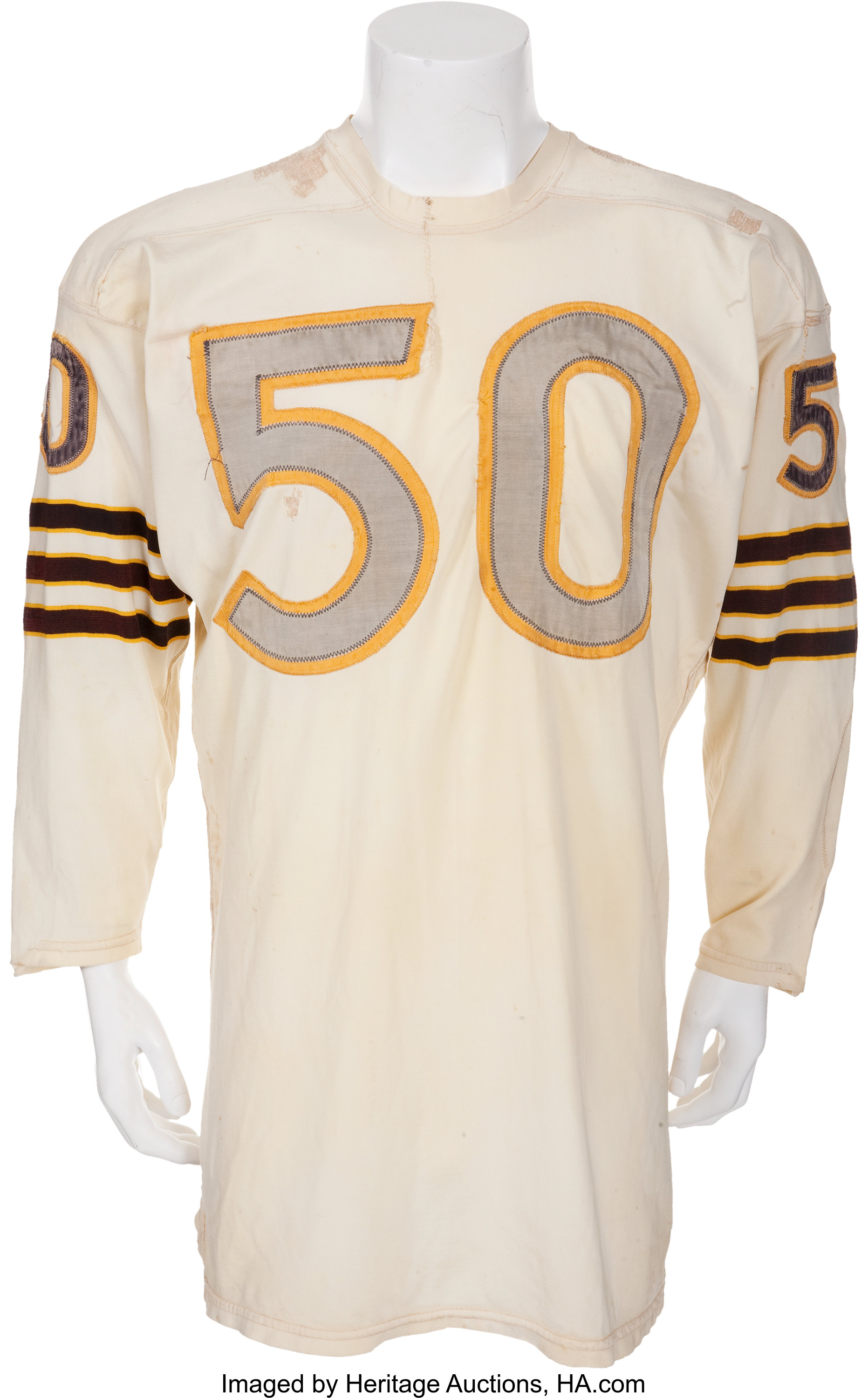 1960 Jim Otto Game Worn Oakland Raiders Rookie Jersey Inaugural Lot 81078 Heritage Auctions