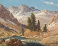 ROBERT WILLIAM WOOD (American, 1889-1979) High Sierras Oil on canvas 25 x 30 inches (63.5 x 76.2