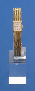 Timepieces:Wristwatch, Tiffany & Co. 18k Gold Wristwatch With 18k Band. ...