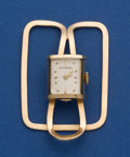 Timepieces:Other , LeCoultre 14k Gold Money Clip Watch. ...