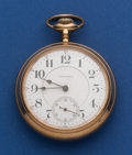 Timepieces:Pocket (post 1900), Waltham 18 Size 21 Jewel Crescent Street Pocket Watch. ...