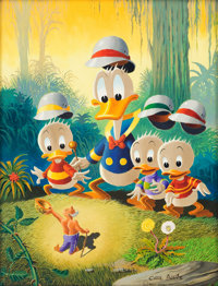 Carl Barks Voodoo Hoodooed Painting Original Art (1974)