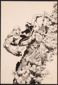 Original Comic Art:Splash Pages, Bernie Wrightson Unpublished Alternate Marvel Preview #4Star-Lord Frontispiece Illustration Original Art (Marvel,...