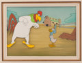 Animation Art:Production Cel, Foghorn Leghorn and Miss Prissy Of Mice and Hen ProductionCel and Background Animation Art (Warner Brothers, 1953...