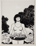 Original Comic Art:Covers, Gilbert Hernandez Love and Rockets #12 Cover Original Art(Fantagraphics, 1985)....