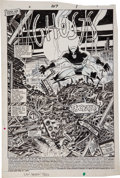 Original Comic Art:Splash Pages, John Romita Jr. and Dan Green The Uncanny X-Men #207 Splashpage 1 Original Art (Marvel, 1986)....