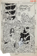 Original Comic Art:Covers, Stephen DeStefano and Larry Mahlsted Christmas with theSuperheroes #2 Cover with Autographs Original Art (DC, 198...