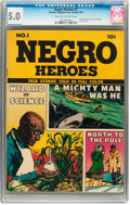 Golden Age (1938-1955):Non-Fiction, Negro Heroes #1 (Parents' Magazine Institute, 1947) CGC VG/FN 5.0Cream to off-white pages....