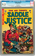 Golden Age (1938-1955):Western, Saddle Justice #5 (EC, 1949) CGC NM- 9.2 Off-white pages....