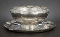 AN AMERICAN SILVER PUNCH BOWL SET Whiting Manufacturing Company, New York, New York, circa 1925 Marks: (W </