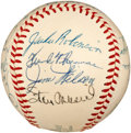 Autographs:Baseballs, 1954 National League All-Star Team Signed Baseball....