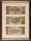 Confederate Notes:1864 Issues, T69 $5 1864. T68 $10 1864. T70 $20 1864.. ...