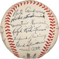 Autographs:Baseballs, 1946 New York Giants Team Signed Baseball....