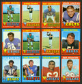 Football Cards:Sets, Two 1971 Topps Football Near Sets (370 total cards). ...