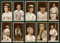 Baseball Cards:Lots, 1912 T207 Recruit Brown Background Collection (10). ...