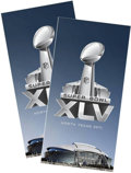 Football Collectibles:Others, Taste of the NFL Super Bowl XLV Trip with Game Tickets....