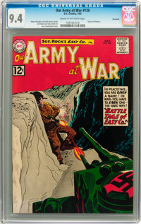 Our Army at War #120 Savannah pedigree (DC, 1962) CGC NM 9.4 Cream to off-white pages