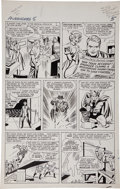 Original Comic Art:Panel Pages, Jack Kirby and Paul Reinman The Avengers #5 page 5 OriginalArt (Marvel, 1964)....